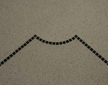 pavimento e scala in graniglia